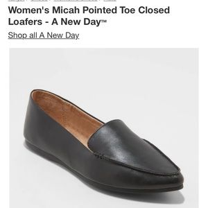 Micah Pointed Toe Closed Loafers - A New Day™